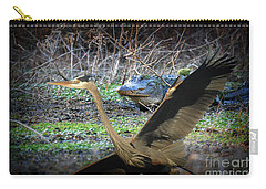 Carry-all Pouch featuring the photograph Time To Leave by Dan Friend