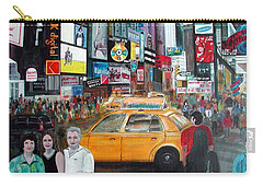 Carry-all Pouch featuring the painting Times Square by Anna Ruzsan