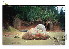 Carry-all Pouch featuring the photograph Tinopai Beach Rock by Mark Dodd