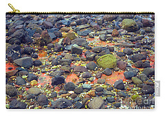 Carry-all Pouch featuring the photograph Tinopoi Beach Rocks by Mark Dodd