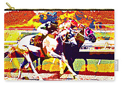 Carry-all Pouch featuring the photograph To The Finish by Alice Gipson