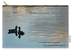 Carry-all Pouch featuring the photograph Together by Steven Sparks