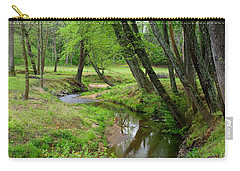 Carry-all Pouch featuring the photograph Toms Creek In Early Spring by Kathryn Meyer