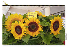 Carry-all Pouch featuring the photograph Tournesol by Carla Parris