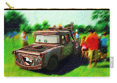 Carry-all Pouch featuring the photograph Tow Mater Live by Mario Carini