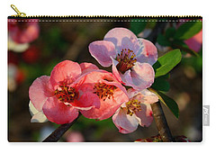 Carry-all Pouch featuring the photograph Toyo Nishiki Quince by Kathryn Meyer