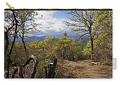Carry-all Pouch featuring the photograph Trail At Cathedral Hills by Mick Anderson