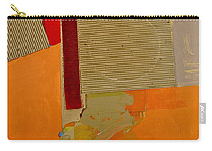 Carry-all Pouch featuring the painting Transition 4 Red Crepe by Cliff Spohn