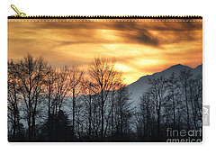 Trees With Orange Sky Carry-all Pouch