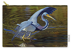 Tri-color Heron Dance Carry-all Pouch