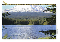 Trillium Lake At Mt. Hood Carry-all Pouch by Athena Mckinzie