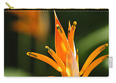 Tropical Orange Heliconia Flower Carry-all Pouch by Elena Elisseeva