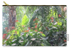 Carry-all Pouch featuring the photograph Tropical Paradise by Donna  Smith