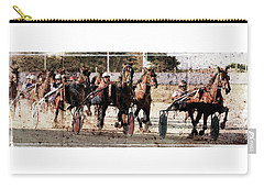 Carry-all Pouch featuring the photograph Trotting 3 by Pedro Cardona