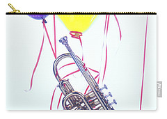 Trumpet Lifted By Balloons Carry-all Pouch