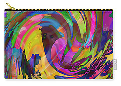 Carry-all Pouch featuring the mixed media Tsunami by Kevin Caudill