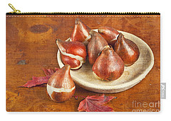 Tulip Bulbs Brocade Carry-all Pouch by Verena Matthew