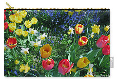 Carry-all Pouch featuring the photograph Tulips Dancing by Rory Sagner
