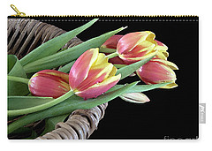 Tulips From The Garden Carry-all Pouch by Sherry Hallemeier