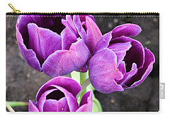 Tulips Queen Of The Night Carry-all Pouch