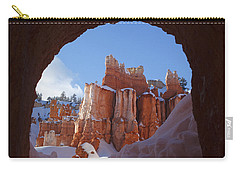 Carry-all Pouch featuring the photograph Tunnel In The Rock by Susan Rovira