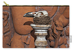 Turkey Vulture Skull Carry-all Pouch
