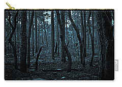 Carry-all Pouch featuring the photograph Twilight In The Smouldering Forest by DigiArt Diaries by Vicky B Fuller