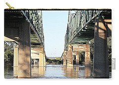 Carry-all Pouch featuring the photograph Twin Bridges by Elizabeth Winter