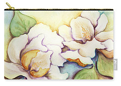 Carry-all Pouch featuring the painting Two Magnolia Blossoms by Carla Parris