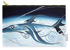 U2 Spyfish - Spy Plane As Abstract Fish - Carry-all Pouch by J Vincent Scarpace