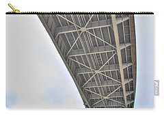 Carry-all Pouch featuring the photograph Under The Skyway by Michael Frank Jr
