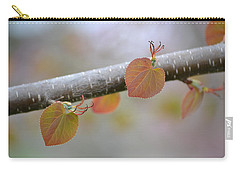 Carry-all Pouch featuring the photograph Unfurling Buds In The Heart Of Spring by JD Grimes