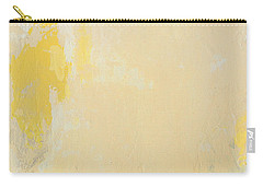 Untitled Abstract - Bisque With Yellow Carry-all Pouch
