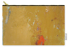 Untitled Abstract - Ochre Cinnabar Carry-all Pouch