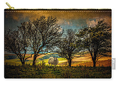 Carry-all Pouch featuring the photograph Up On The Sussex Downs In Autumn by Chris Lord