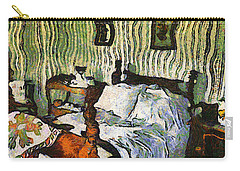 Carry-all Pouch featuring the painting Van Gogh's Bedroom by Mario Carini