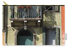 Carry-all Pouch featuring the photograph Venetian Doorway by Carla Parris