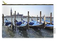 Carry-all Pouch featuring the photograph Venice Gondolas by Rebecca Margraf