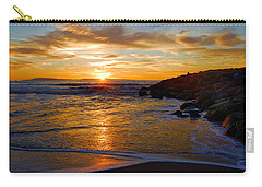 Carry-all Pouch featuring the photograph Ventura Beach Sunset by Lynn Bauer