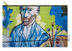 Carry-all Pouch featuring the digital art Vincent On The Wall by Carol Ailles