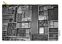 Carry-all Pouch featuring the photograph Vintage Bookcase Art Prints by Valerie Garner