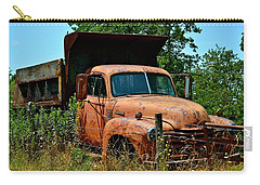 Carry-all Pouch featuring the photograph Vintage Old Time Truck by Peggy Franz