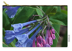 Carry-all Pouch featuring the photograph Virginia Bluebells by Daniel Reed