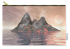 Carry-all Pouch featuring the digital art Volcano Island by Phil Perkins