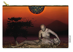 Carry-all Pouch featuring the digital art Volcanos Pieta by Rosa Cobos