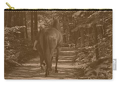 Carry-all Pouch featuring the photograph Walk Down Memory Lane by Davandra Cribbie