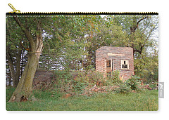 Carry-all Pouch featuring the photograph Walnut Grove School Ruins by Bonfire Photography