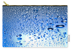 Water Drops On A Shiny Surface Carry-all Pouch