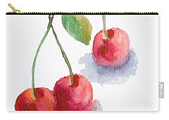 Watercolor Cherry  Carry-all Pouch