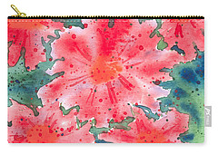 Watercolor Flowers Carry-all Pouch